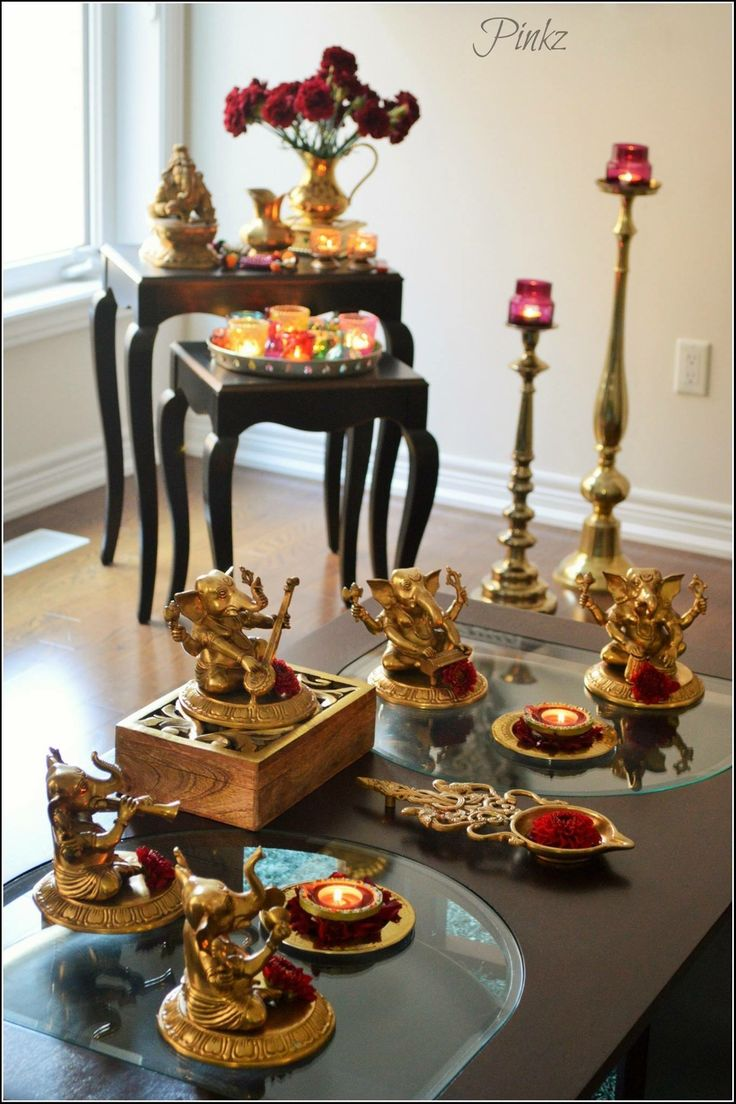 47 best indian decor images on pinterest decorating for Simple diwali home decorations