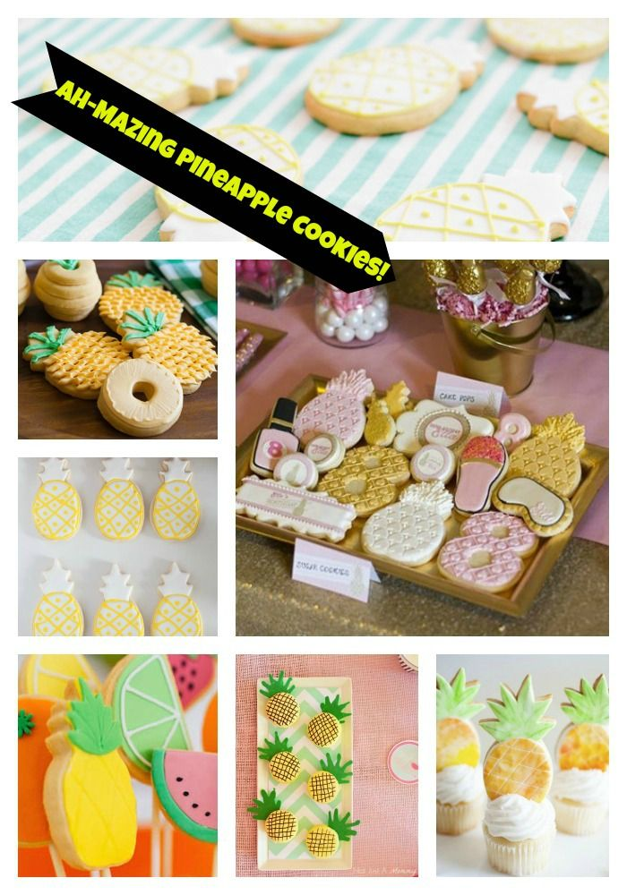 Pineapple Cookies We Love! - B. Lovely Events