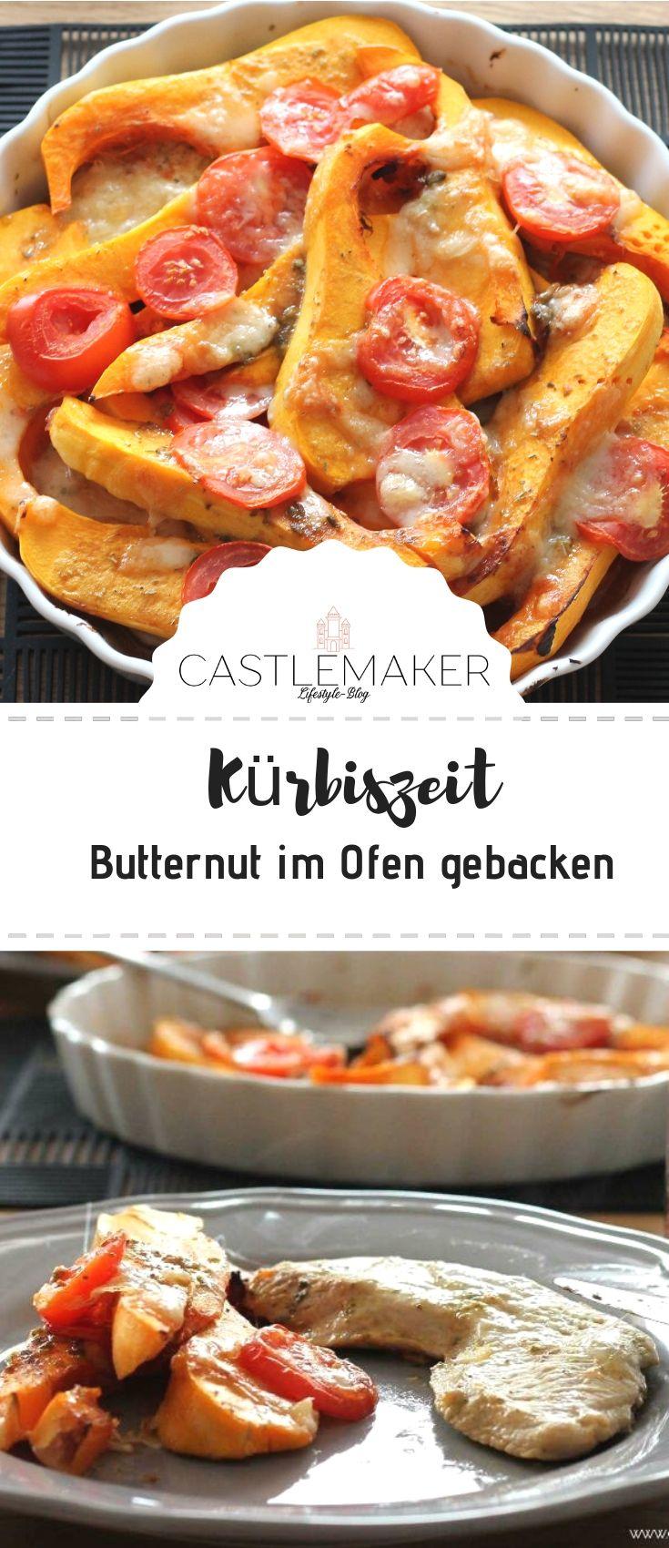 Butternut Kürbis im Ofen gebacken / Rezept