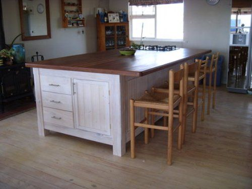 Large Kitchen Islands with Seating and Storage | Kitchen