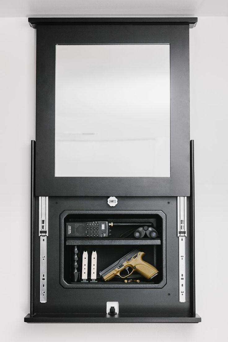 Series 1410 Lockable Mirror Opened