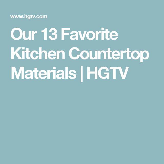 Our 13 Favorite Kitchen Countertop Materials | HGTV