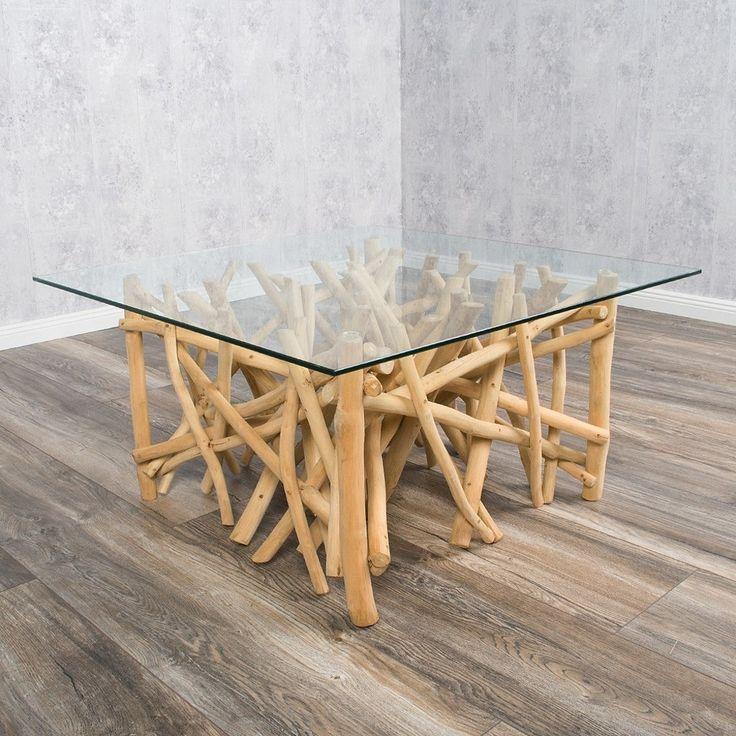 Designer Couchtisch DRIFT Treibholz 80cm Natur