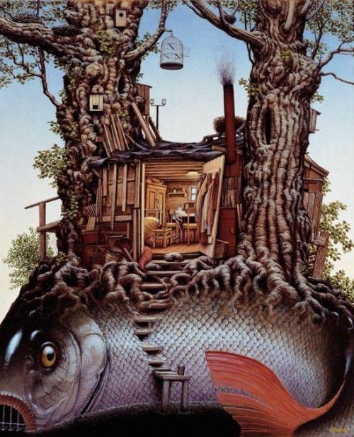 El arte surrealista de Jacek Yerka « Humanismo y Conectividad