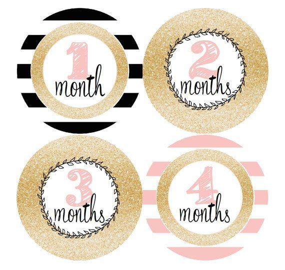 Hito de pegatinas de bebé mensual mes adhesivos por MaddiesMomE