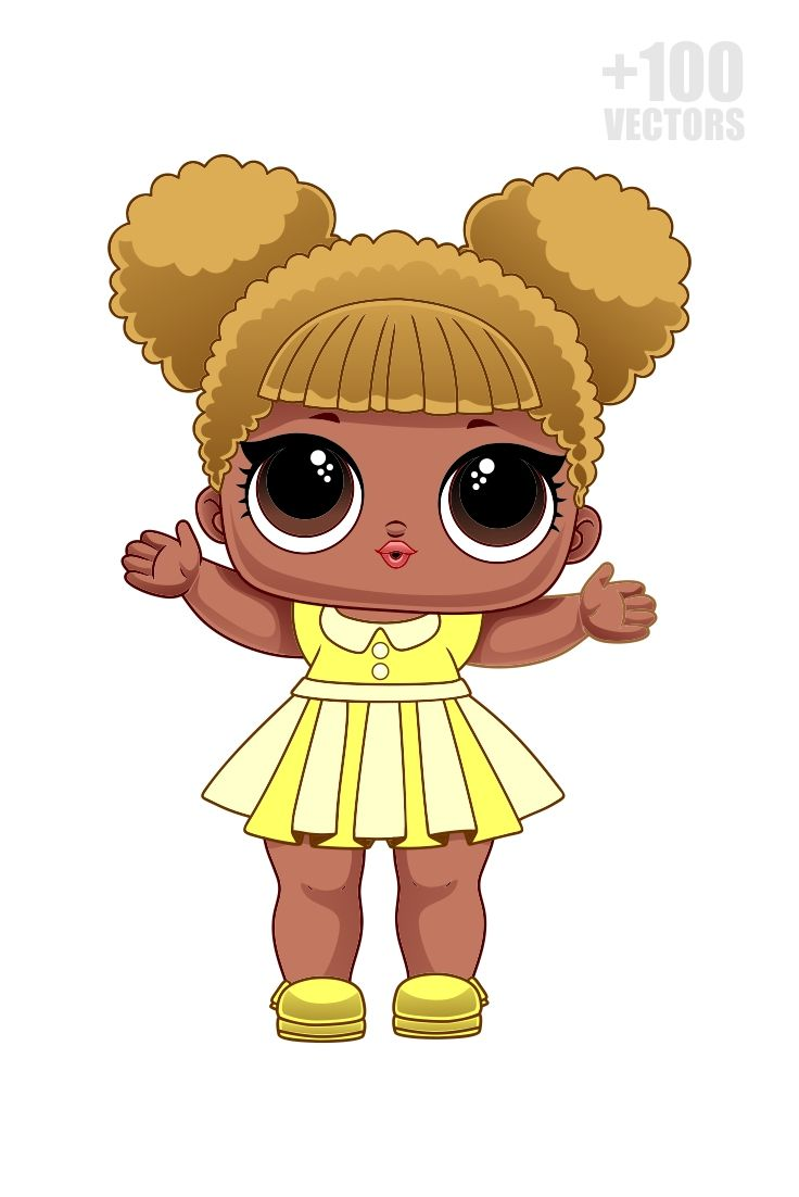 100 Lol Surprise Vectors In Cdr Png And Svg Lol Dolls Cute Easy Drawings Doll Drawing