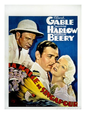 Clark Gable Movie Posters | ... Seas, Wallace Beery, Clark Gable, Jean Harlow, 1935 Premium Poster