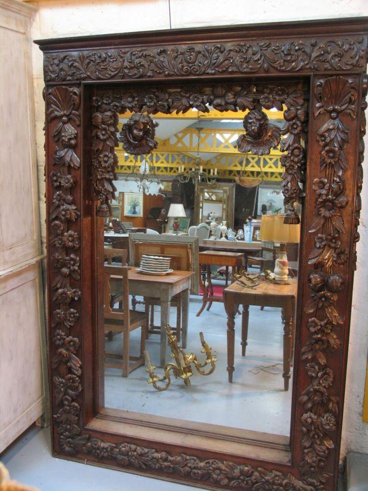 Grand Miroir Baroque 19 ème Siècle, Age d'Or Antiquités, Proantic