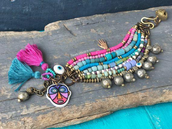 Boho hippie armband etnische multi strand armband Gypsy