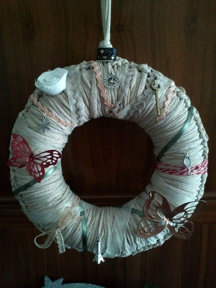 Rosa Blog Style: ♥ Coronas de Navidad con Trapillo y Scrap fototutorial