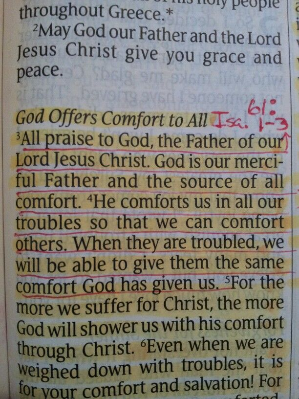 GOD OFFERS COMFORT TO ALL 2 CORINTIANS 1:3,4 (3-11)