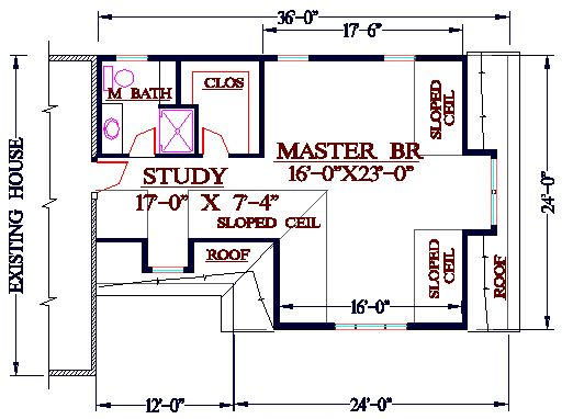 New Master Bedroom Addition on Bath Mastersuite Floor Plans