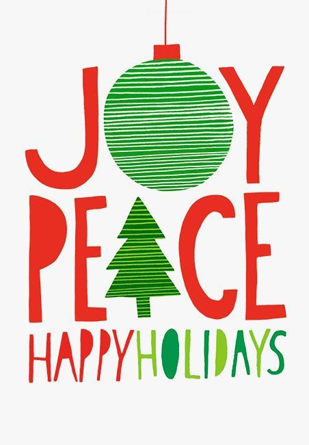 Margaret Berg Art: Joy+Peace+Happy+Holidays+Red+Green