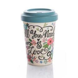 Chic mic Bambus Becher to go BambooCup ALL YOU NEED IS LOVE