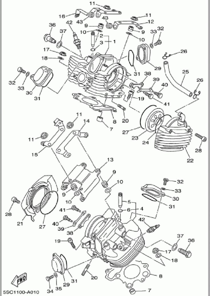 Yamaha V-star 7 Engine Diagram Yamaha V-star 7 Engine