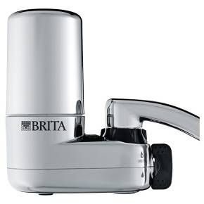 Brita Basic On Tap Faucet Water Filter System attaches directly to your tap. This easy and convenient water filter system reduces chlorine taste and odor, lead and asbestos contaminants commonly found in tap water. It also removes 99.99% of cryptosporidium and giardia cysts, as well as featuring an extra layer to trap sediment. With this basic system, 1 Brita water filter can provide up to 100 gallons of filtered tap water, replacing over 750 standard 16 oz. plastic water bottles, which cuts…