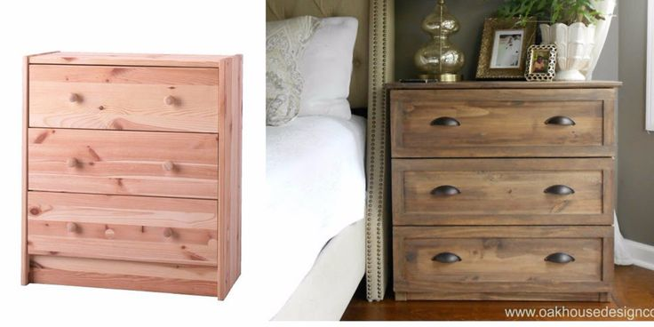 A blogger shares her IKEA hack that transforms a cheap dresser into an expensive luxurious looking nightstand.