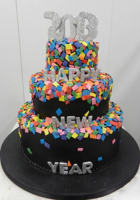 Happy 2013 confetti cake