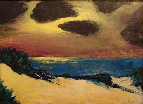 Emil Nolde, North Sea Dunes on ArtStack #emil-nolde #art