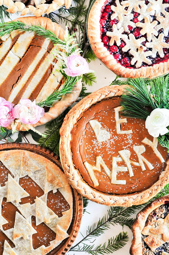 Lexy Ward of Lexy Ward inspires allllllll of our holiday indulgences! More pie, please. http://theproperblog.com/diy/diy-holiday-pie-crust-designs-to-wow-your-friends/