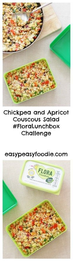 Stuck for lunchbox ideas? Why not try this delicious, easy and child friendly Chickpea and Apricot Couscous Salad, which I created as part of the #FloraLunchbox Challenge. It's quick to make and easily adapted to your own family's preferences.