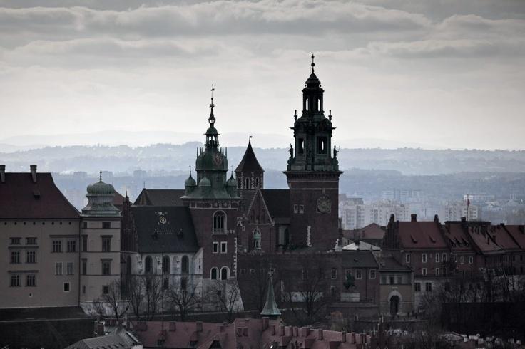Kraków. Widok na Wawel z wieży Kościoła Mariackiego/Fot. Michał Łepecki/Agencja Gazeta