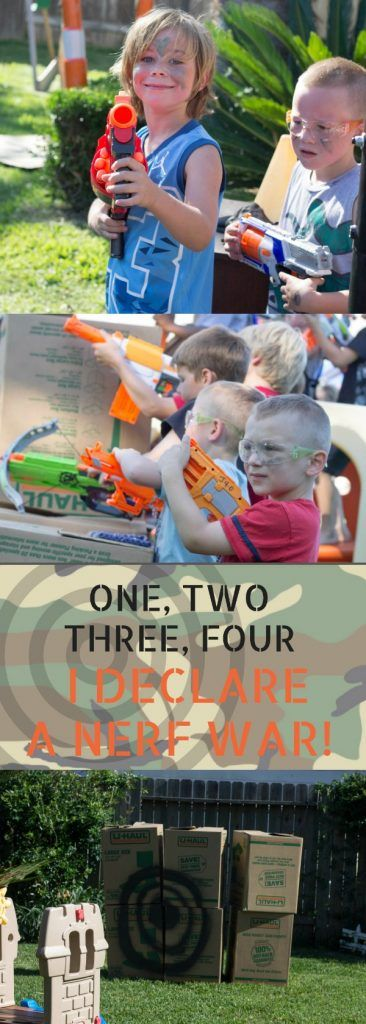 If your child loves nerf guns, throw an epic party in your backyard! A Nerf War Birthday party is simple and so much fun for all age.