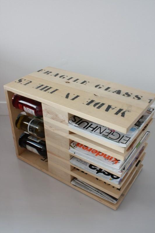 Mooie koffietafel, voor wijn, boeken/tijdschriften en meer! (door Boudewijn van den Bosch)