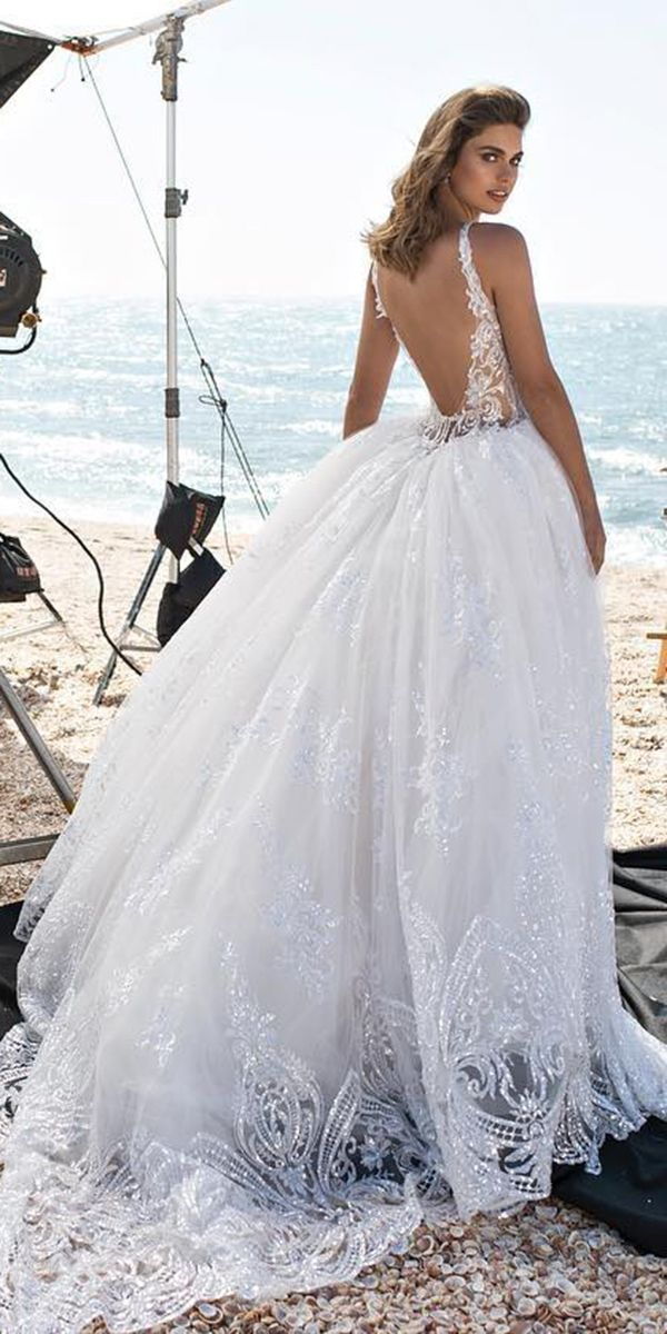 Pnina Tornai Wedding Ball Gown backless lace 2018 https://weddingdressesguide.com/pnina-tornai-wedding-dresses