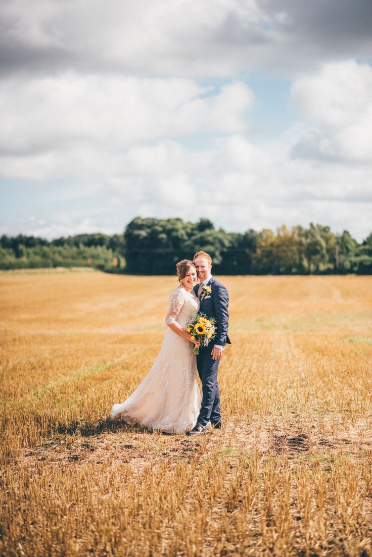 Outdoorsy Rustic Sunflowers Wedding http://www.helenjanesmiddy.com/