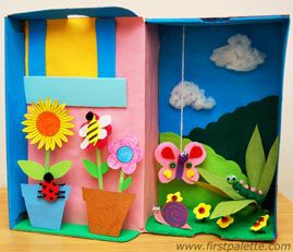 Garden Diorama Craft    Click here to see how: www.firstpalette….