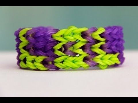 "Rainbow Loom Nederlands ""LOL"" Bracelet - Armband - Loom bands - YouTube"