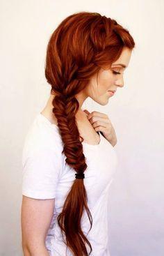 cabello rojo con mechas californianas rojo castaño - Buscar con Google