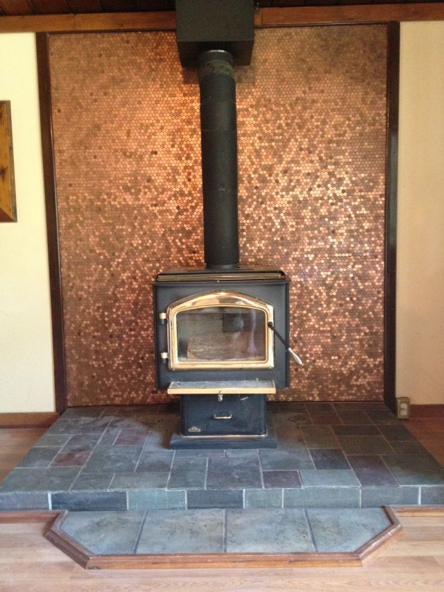 How I Spent Four Days Of My Vacation or, Do You Have 11,966 Pennies That  You Don't Know What To Do With? Four DaysWood StovesFireplace IdeasCool ... - Best 25+ Wood Stove Wall Ideas On Pinterest Stoves, Small Stove