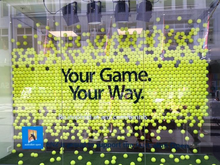 ANZ BANK,Melbourne, Australia for the Australian Tennis Open, pinned by Ton van der Veer