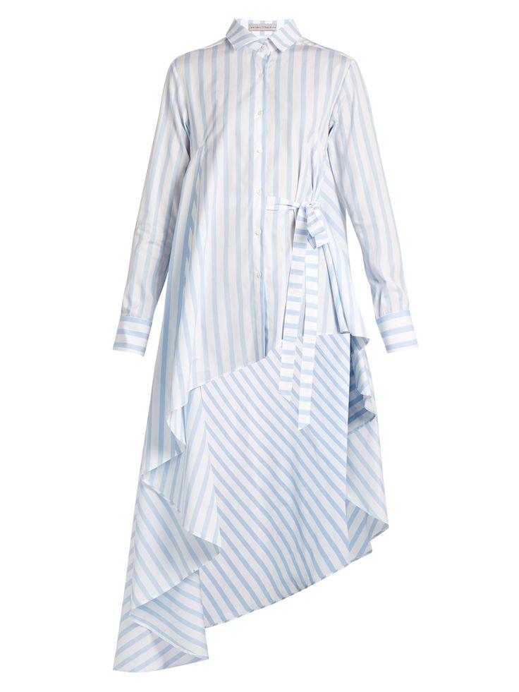 Asymmetric-hem striped cotton shirt   Palmer//harding   MATCHESFASHION.COM US