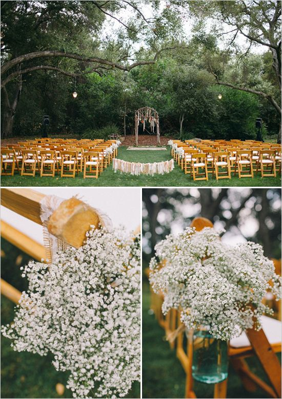 Using Baby's Breath is a great idea for economical floral decorations.