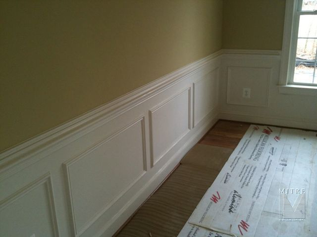 Baseboard Chair Rail And Panel Moulding Concept For Dining Room