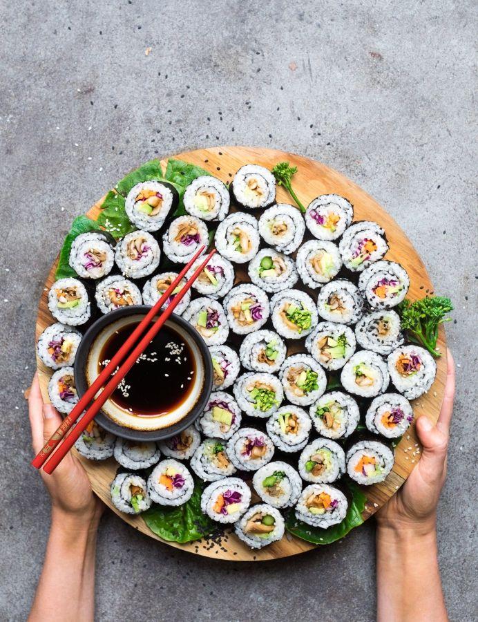 Sushi Rolls met Oesterzwam en Avocado (Vegan, Glutenvrij)   Inspiratie: Anett Velsberg