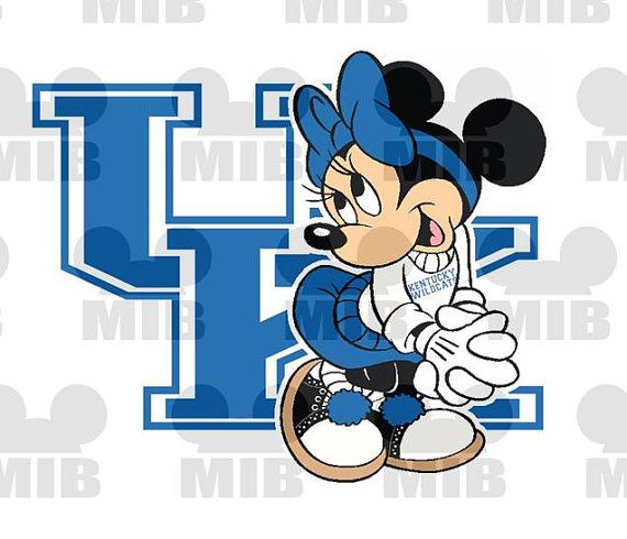 MINNIE Loves Her College Team ~ Kentucky Wildcats ~ Choose Your College ~ All Teams Available! Printable Digital File for Iron ons forShirts on Etsy, $5.00