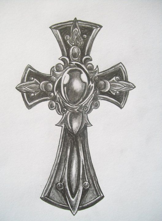 simple cross with wings tattoo designs