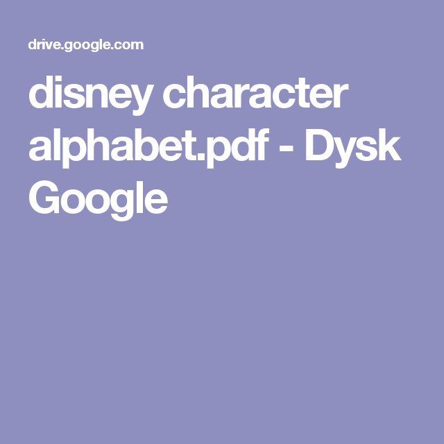 disney character alphabet.pdf - Dysk Google