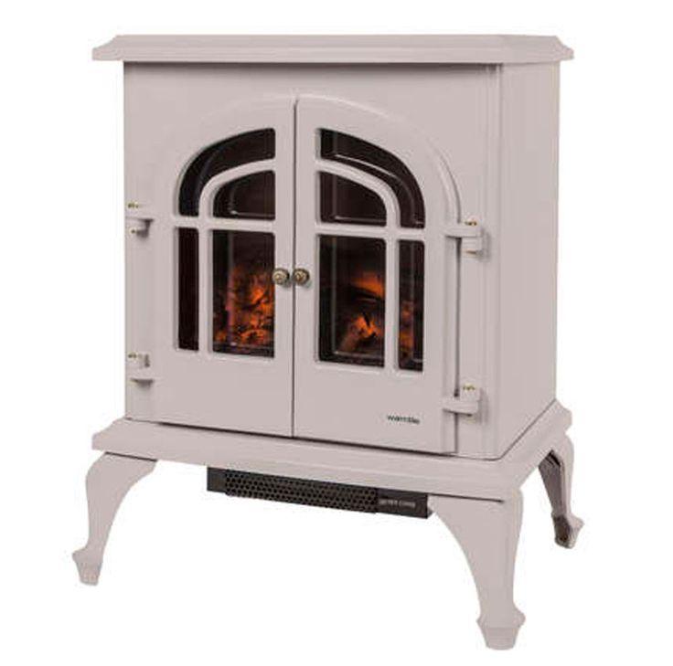 Warmlite 2000W Electric Stove Fire Log Burner Effect Heater Barley WL46001 NEW