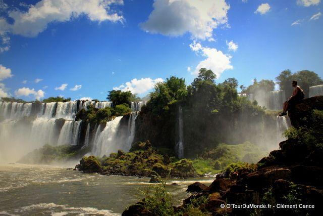 Argentine : les chutes d'Iguazu. Le coté Argentin est tout simplement splendide et incomparable avec le coté Brésilien ! @OTourDuMonde
