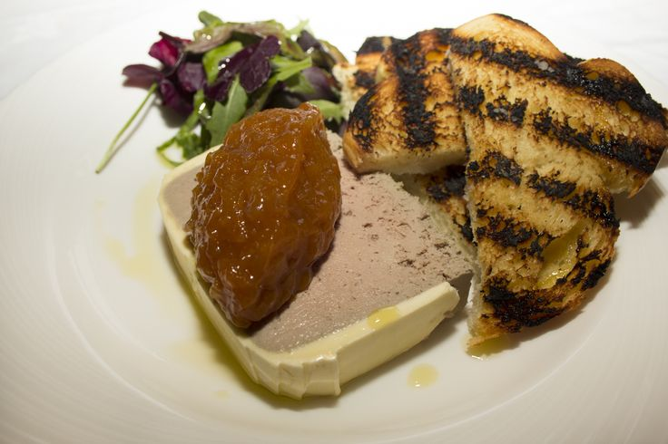 Chicken Liver Parfait with spiced apricot chutney and toasted brioche