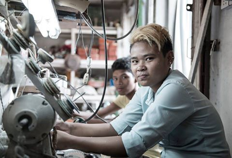 These two young guys work with stones such as Amber and Jade to make necklaces, wristbands among other jewellery  Jewellery Craftsmen - #Yangon, #Myanmar