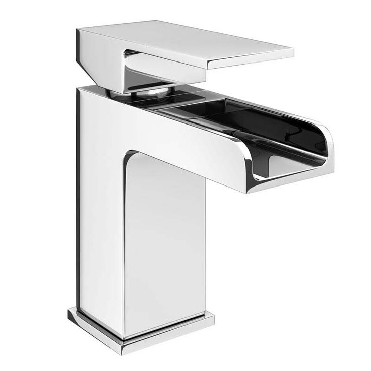 Plaza Chrome Waterfall Basin Tap with Waste | Product Code WF001 | Official VictorianPlumbing.co.uk™ Website | As Seen on TV | Excellent Trust Pilot Rating