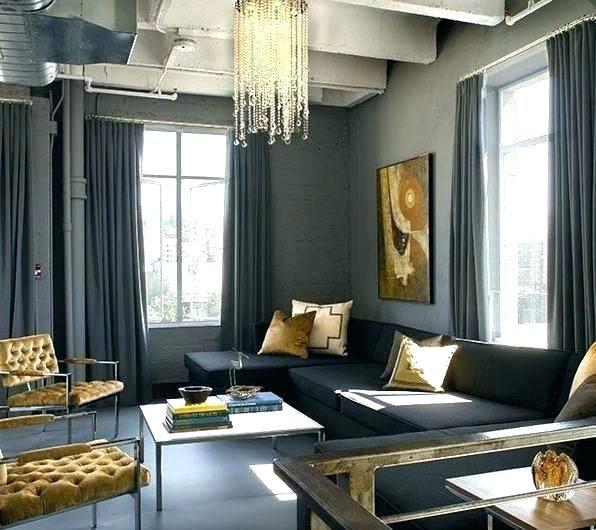 Schwarz-Gold-Wohnzimmer