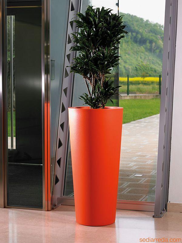 Ortensia | Fioriera per giardino, color arancione