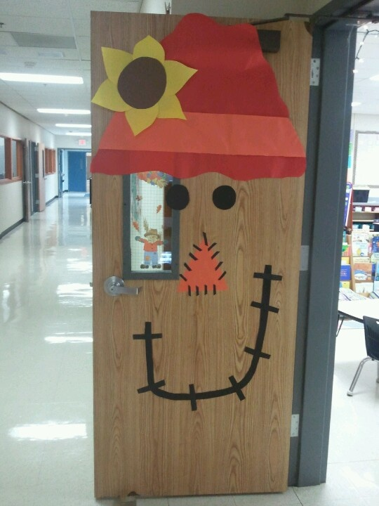 Scarecrow Door Decoration Classroom ~ Thanksgiving scarecrow door classroom we have done
